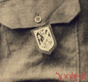 Insigne second modèle du 7e RSA, exemplaire du brigadier-chef Bouhant