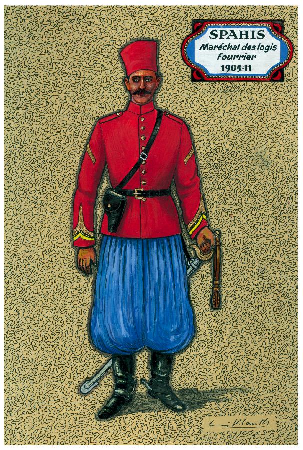 Louis Klauth - Spahis Maréchal des logis Fourrier 1905-11