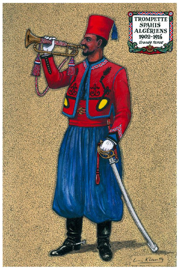 Louis Klauth - Trompette spahis alégriens 1902-1914