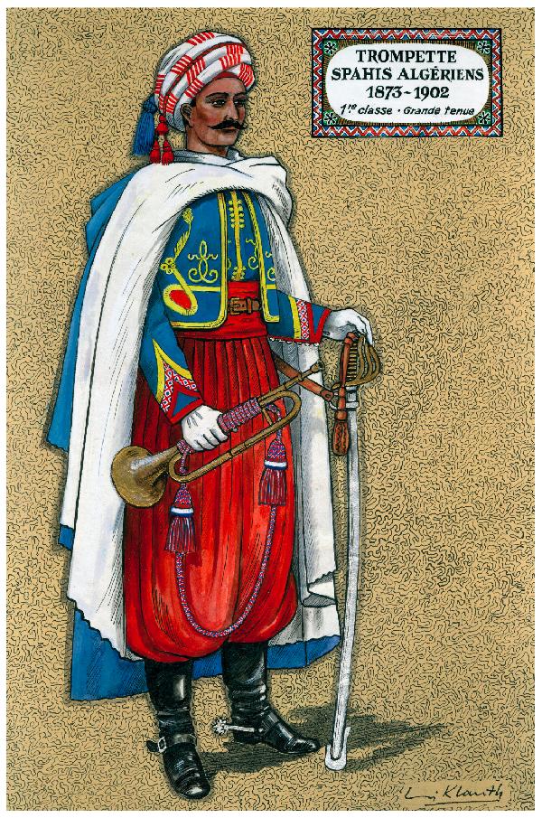 Louis Klauth - Trompette spahis algériens 1873-1902