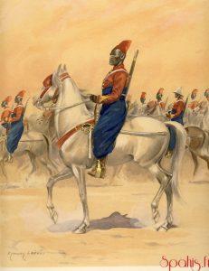 Spahis sénégalais - planches uniformologiques d'Edmond Lajoux